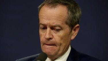 Falling short: Labor leader Bill Shorten.