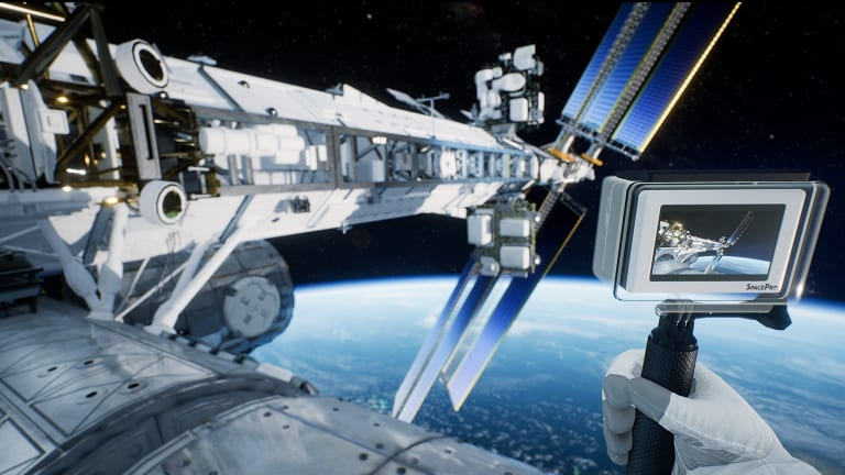 A virtual reality still from Earthlight: Spacewalk.