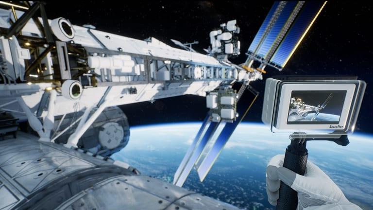 A virtual reality still from Earthlight: Spacewalk.