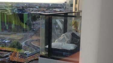 Some residents were sleeping on balconies in Lacrosse tower.