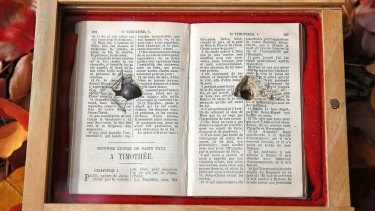 Remarkable: The bible that saved the life of an Anzac digger.