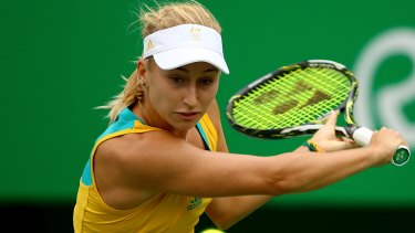 Went down fighting: Daria Gavrilova.