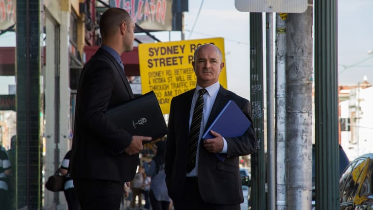 Paul Rowe (left) interviewed the suspects while Dave Butler led the murder investigation, which took six days to solve.