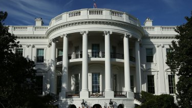 The White House in Washington, where Donald Trump will sleep alone.