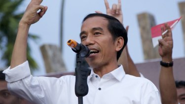 Losing political support: Indonesia's President Joko Widodo.