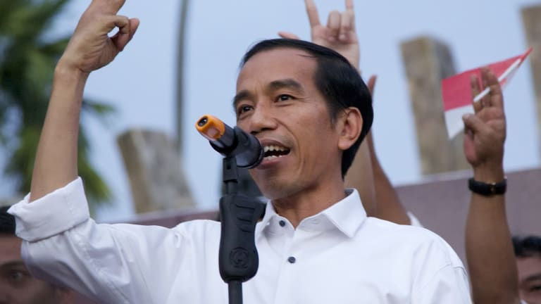Losing political support: Indonesia's President Joko Widodo.
