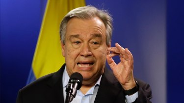 UN Secretary-General Antonio Guterres wants to deal with the issue.