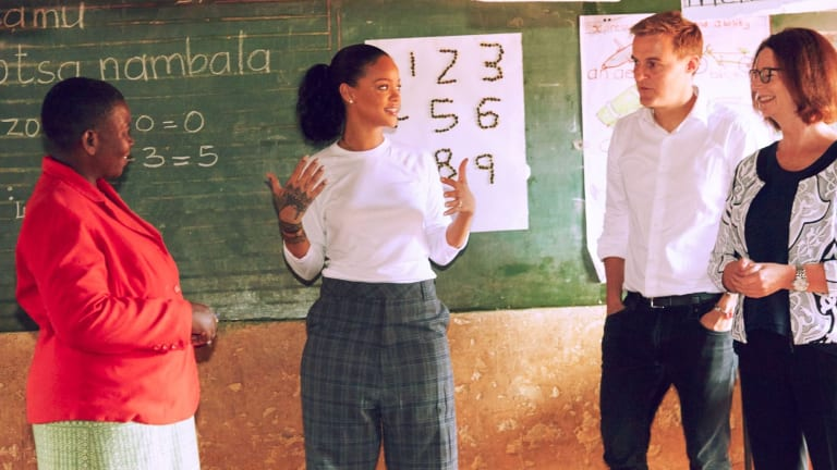 The trio in Malawi.