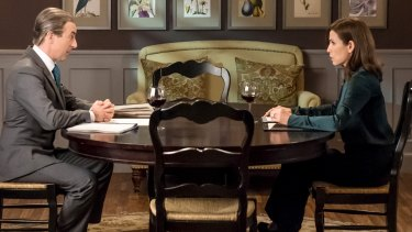 Alan Cumming and Julianna Margulies in The Good Wife.