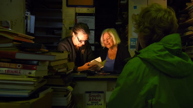 Mairi Petersen say Gould's Book Arcade will be closing down in three months unless they can find cheaper premises.