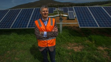 Impact investment group head of renewable infrastructure Lane Crockett. The company owns and operates the Mt Majura Solar Farm.
