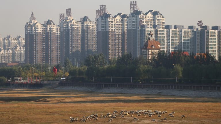 Banks of high-rise apartments have sprouted in Yanjiao.