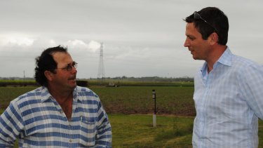 Nuffield Farming Scholar Joe Muscat and Rob Cairns