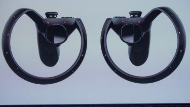 A close up of the new controllers.