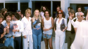 Alice Cooper and ABBA both hit Perth at the same time on their Australian tours in 1977.