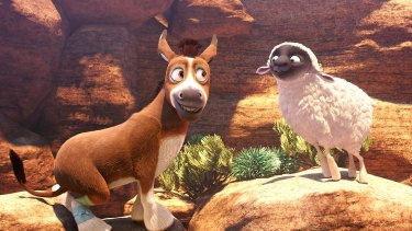 The film's hero is Bo, a bumbling donkey.