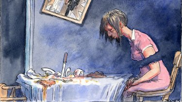 Of the 31 women killed violently in Australia this year, most were attacked in their own homes. <i>Illustration: John Spooner</i>