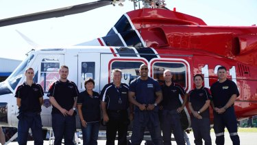 CareFlight's 412 Bell helicopter received a makeover to star in San Andreas.