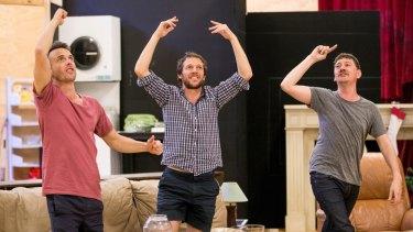 Luke Ryan, Gareth Reeves and Hamish Michael in <i>Straight White Men</i>.