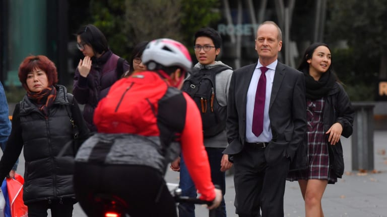 Southbank resident John Gigacz says the conflict between pedestrians and cyclists has intensified.