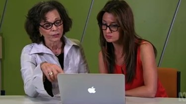 <em>Catalyst </em>reporter Maryanne Demasi, right, with Devra Davis, a US cancer epidemiologist, in a screengrab from the program.