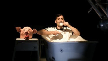 Raoul Craemer commands an appealing presence on stage in <i>Pigman's Lament</I>.