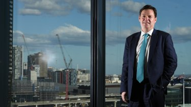 Lendlease chief executive Steve McCann at its Barangaroo offices, Sydney.