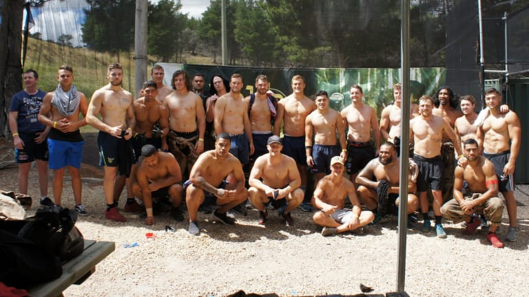 The Canberra Raiders celebrate Jakc Wighton and Blake Austin's birthdays with paintball.