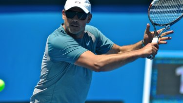 Andrew Florent in action at the Australian Open in 2014.