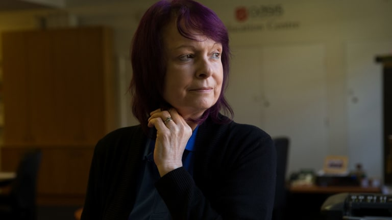 Mandi Smith, Education Coordinator, at the Oasis Education Centre in Surry Hills has experienced homelessness herself. Janie Barrett