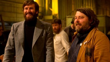 Free Fire director Ben-Wheatley (right) with actor Armie Hammer.