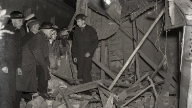 Damage at Rose Bay after the submarine attack.