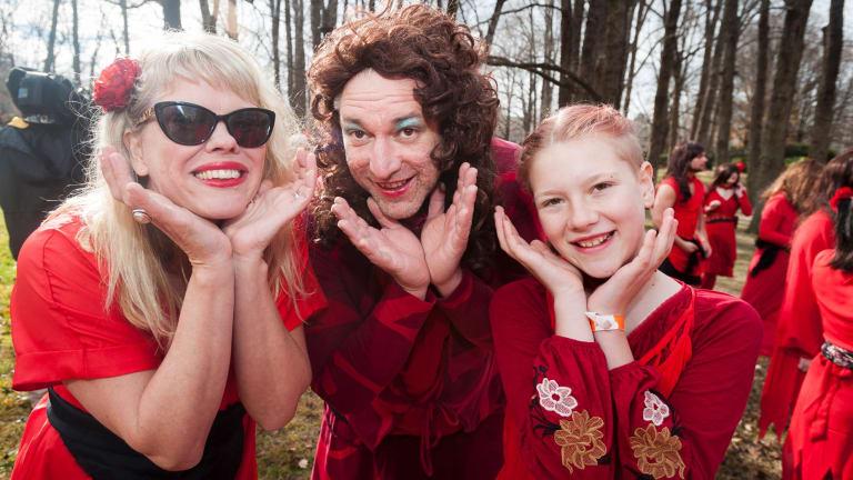 Naomi Zouwer, Ross Slater and Elmi Slater.