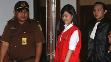 Murder charge: Jessica Kumala Wongso at the Central Jakarta District Court in Indonesia in June.