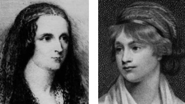 The real Mary Shelley, left, and her mother feminist writer Mary Wollestonecraft.