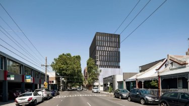 The design for an office proposal at 71 Gipps Street, Collingwood.
