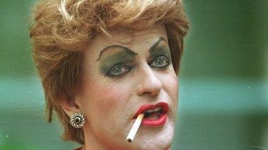 Simon Hunt as Pauline Pantsdown in 1998.