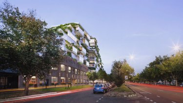 An artist's impression of the plan for 26-56 Queens Parade, North Fitzroy.