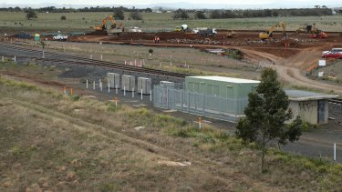 Construction work on the Caroline Springs railway station in August 2015. It is planned to  open in January 2017.