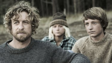 Yearning: Simon Baker, Samson Coulter and Ben Spence in the first photo for the film <i>Breath</i>, which has started shooting in Western Australia.