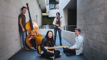 ANU School of Music students Brendan Keller-Tuberg, Ellen Chan, Helena Popovic and Hayden Fritzlaff who are optimistic about the future of the school following the review.