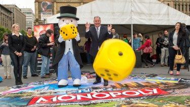 A Melbourne version of the famous board game Monopoly was launched at Federation Square by the lord mayor Robert Doyle and Mr Monopoly.