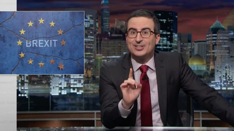 The excellent John Oliver, British comedian and host of the US Last Week Tonight Show, takes a satirical view of news, politics and current events.