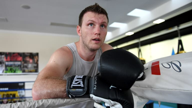 Fight virtually over the line: Jeff Horn.