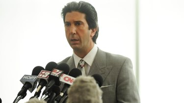 David Schwimmer convincingly plays lawyer Robert Kardashian.