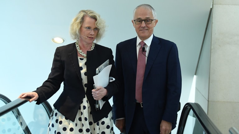 Laura Tingle with Prime Minister Malcolm Turnbull.