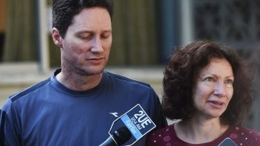Michelle Levy's parents Adam and Anne: their daughter is staying with relatives.