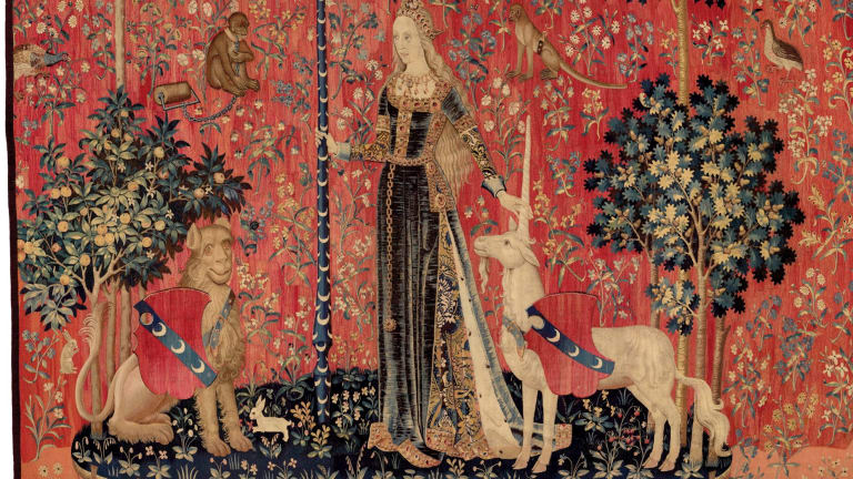 """""""Touch"""" from The Lady and the Unicorn series, c1500"""