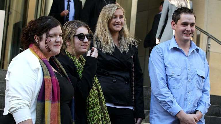Royal commission witnesses: Kate Finn, India Spicer, Tash Dale and Jonathan Eyles.