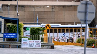 Some workers have been seen boarding buses.